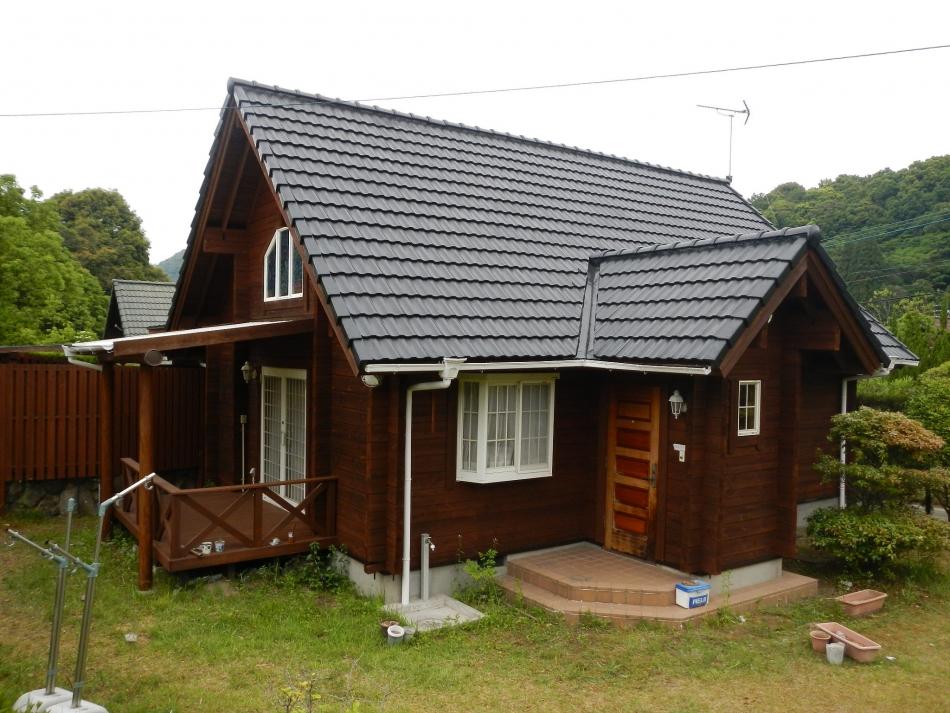薩摩川内市市比野で別荘住宅屋根外壁の塗装するなら東翔(とうしょう)塗装、防水
