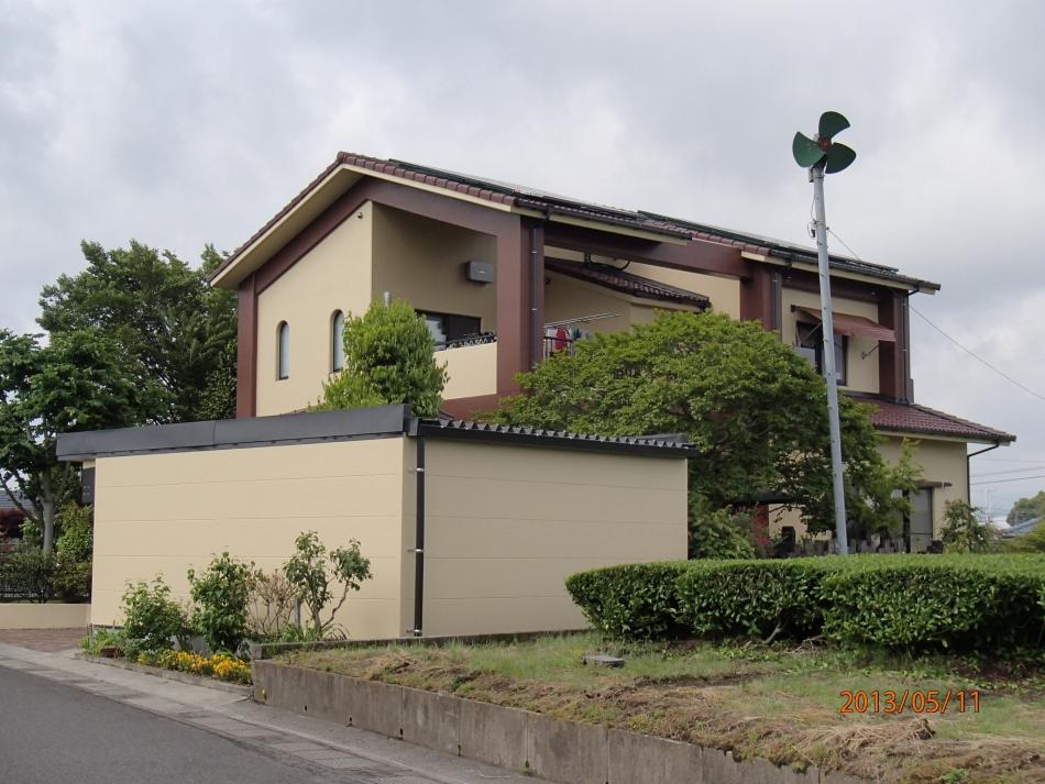 鹿児島県鹿児島市溝辺町で住宅屋根外壁の塗装するなら東翔(とうしょう)塗装、防水