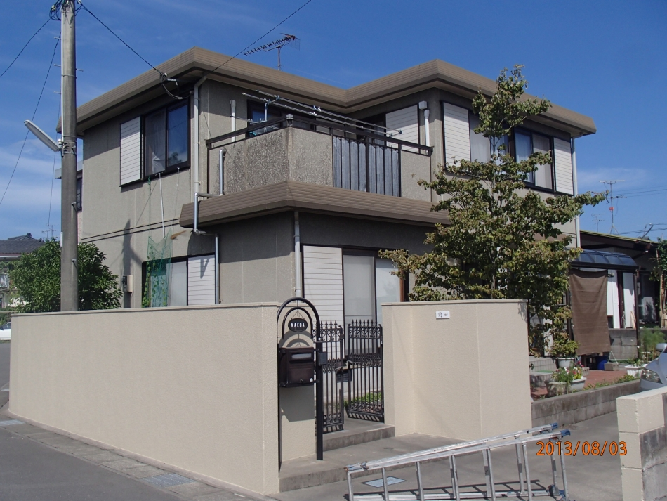 鹿児島県鹿児島市西伊敷で住宅屋根外壁の塗装するなら東翔(とうしょう)塗装、防水